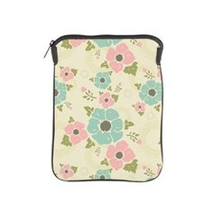 "Nostalgic flowers iPad Sleeve Beige seamless vintage pattern ""Nostalgic flowers""  $42.89"