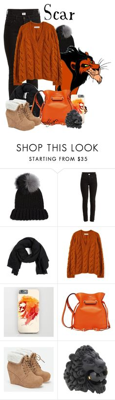 """Scar - Disney's The Lion King"" by rubytyra ❤ liked on Polyvore featuring Eugenia Kim, Disney, Vetements, Faliero Sarti, Lancel, JustFab and Gucci"
