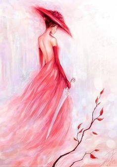La femme en rouge