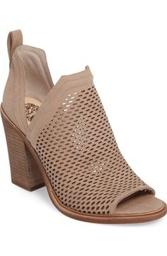 Vince Camuto Kensa Peep Toe Bootie (Women) (Nordstrom Exclusive) available at #Nordstrom