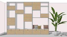 Maatwerk ontwerp voor meubels in 3D   Interieur design by nicole & fleur Divider, Room, Furniture, Home Decor, Atelier, Bedroom, Decoration Home, Room Decor, Rooms