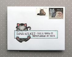Envelope Lettering, Envelope Art, Envelope Design, Mail Art Envelopes, Addressing Envelopes, Fancy Envelopes, Mailing Envelopes, Pen Pal Letters, Letter Art
