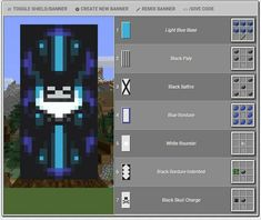 Quite intriguing and Interesting Banner design I found and wanted to share.. Full credits to u/ Weeoo_god Minecraft Bauwerke, Cool Minecraft Banners, Minecraft Building Guide, Minecraft Survival, Minecraft Decorations, Minecraft Construction, Amazing Minecraft, Minecraft Tutorial, Minecraft Blueprints