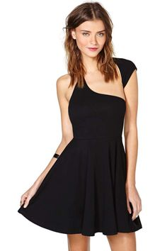 nasty gal. one over skater dress. #fashion