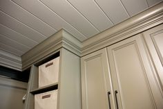 Interior Products | crown moulding to connect cabinets with ceiling | Bayer Built Woodworks, Inc.
