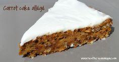 Recette du carrot cake version allégé, avec un glaçage fromage blanc sur le dessus. Le gateau est bien moelleux et très parfumé recette thermomix ou pas.