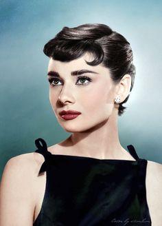 Audrey Hepburn 1954 by klimbims