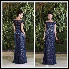 Navy Blue Off Shoulder Short Sleeve Floor Length Women'S Party Dress For Wedding Long Lace Mother Of The Bride Dresses With Embroidery Beads Mother Bride Dresses Plus Size Mother Dresses For A Wedding From Dresslee, $188.04| Dhgate.Com