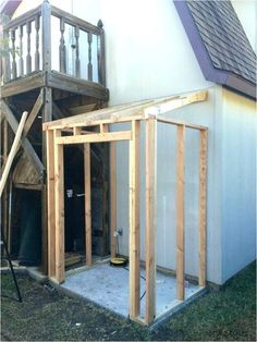 Diy Storage Shed, Outdoor Storage Sheds, Garden Tool Storage, Outdoor Sheds, Recycling Storage, Kayak Storage, Wood Storage, Building A Wood Shed, Building A Pool