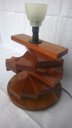 Totara Double twisty table lamp