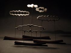 Nuages by Magali Riou  Almost auspicious cloud (most likely made out of porceleine - Magali Riou is a ceramic artist)
