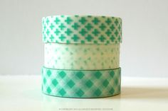 Aqua cross pattern, triangle pattern or hatch pattern chugoku washi tape.Chinese rendition of washi tape (Chugoku =  Chinese) This paper tape is recommended for gift wrapping, packaging,  general decorative use, but I would not recommend it for things that  need archival quality. While in my opinion,Japanese Washi Tapeare higher quality, people have expressed interest in these for the pattern/...