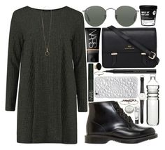 """""""between two lungs"""" by velvet-ears ❤ liked on Polyvore featuring CB2, Ole Mathiesen, Dr. Martens, Ray-Ban, NARS Cosmetics, Sloane, Dot & Bo, Kevyn Aucoin, Felony Case and Jessica Elliot"""