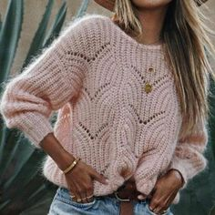 Round Neck Cutout Crochet Plain Sweaters - - Source by Winter Skirt Outfit, Skirt Outfits, Winter Outfits, Casual Outfits, Cute Outfits, Casual Sweaters, Winter Sweaters, Women's Sweaters, Pullover Sweaters