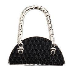 Black Folding Foldable Handbag Bag Purse Table Hook Hanger Holder #Affiliate