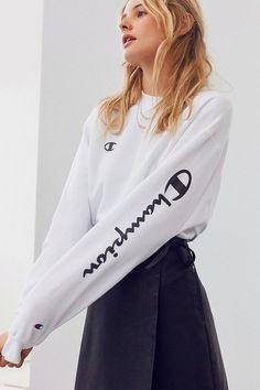 UO Powerblend Crew-Neck Sweatshirt by Champion on ShopStyle.