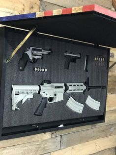 How To Make A Gun Case American Flag Gun Safe Concealment Wood Flag Gun Case Conceal Wall