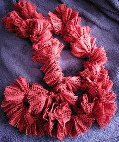 Ravelry: RemnantsCrafts' Red Lacey Scarf