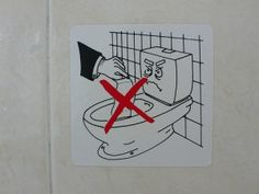 Don't throw paper down the toilet in Greece 1