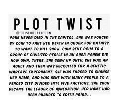 Hunger games/divergent plot twist! That must have been what she meant when she said there were many things she wouldn't mind forgetting. But wasn't Edith Prior' s former name Amanda?