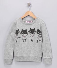 Pink Angel - Gray Cat Sweater