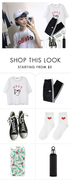 """Dance Practice"" by go-minrin ❤ liked on Polyvore featuring adidas, Converse, Topshop and blomus"