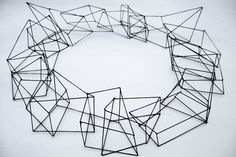 Cool geometric necklace