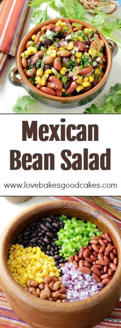 This Mexican Bean Salad is full of protein-rich beans, colorful veggies, and a flavorful Mexican dressing! You'll love how versatile and delicious this dish is! AD #MyBestWithBushBeans (Favorite Desserts Potlucks)