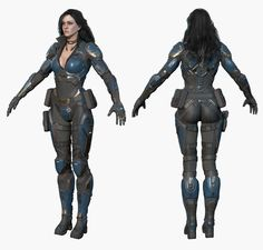 Sci Fi Girl Model available on Turbo Squid, the world's leading provider of digital models for visualization, films, television, and games. 3d Model Character, Character Concept, Character Art, Hellboy Characters, Sci Fi Characters, Fallout Art, Female Armor, Sci Fi Models, Star Wars Outfits