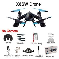 Quadcopter Drone with Camera HD Gopro Rc 2.4G Professional Dron
