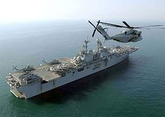 USS Boxer in the Persian Gulf...  The sixth USS Boxer (LHD-4) is a Wasp-class amphibious assault ship of the United States Navy. She is the sixth U.S. Navy ship to bear the name, and was named for a British ship captured by the Americans during the War of 1812.