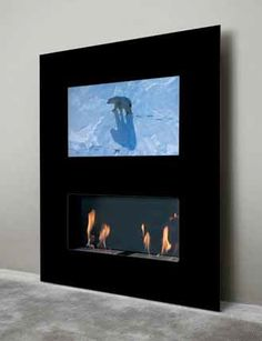 fire with tv above - Google Search