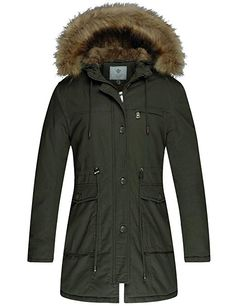 Shop a great selection of WenVen WenVen Women's Fleece Cotton Military Coat. Find new offer and Similar products for WenVen WenVen Women's Fleece Cotton Military Coat. Winter Coats Women, Coats For Women, Fall Coats, Women's Coats, Military Parka, Cotton Jacket, Bleu Marine, Hooded Jacket, Autumn Fashion