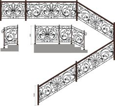 Home Gate Design, Home Stairs Design, Stair Railing Design, Iron Handrails, Wrought Iron Stair Railing, Railings, House Staircase, Iron Staircase, Stairs Handle