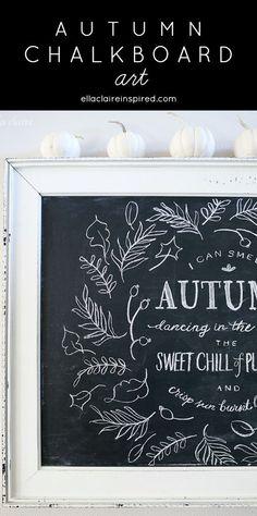 Lovely Autumn Chalkboard Art