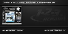 123005DE Leder - Kunstleder - Brandloch Reparatur Set