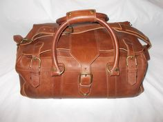 dc4131c55d Rawlings AC100-202-14 American Hand-Crafted Brown Leather Luggage Duffel Bag