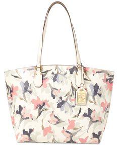 Lauren Ralph Lauren Lauderdale Floral Tanner Tote - Handbags  amp   Accessories - Macy s Tote Purse 05804590732ac