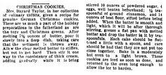 "A recipe for German Christmas cookies, published in the Daily Illinois State Journal newspaper (Springfield, Illinois), 21 December 1898. Read more on the GenealogyBank blog: ""Holiday Genealogy Gift Ideas Pt. 2: Old Fashioned Recipe Book."" http://blog.genealogybank.com/holiday-genealogy-gift-ideas-pt-2-old-fashioned-recipe-book.html"
