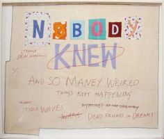 Nobody Knew - Tracey Emin Hayward Gallery, Tate Gallery, Textiles, New York Art, Feminist Art, Famous Art, Love Art, Textile Art, Art Inspo