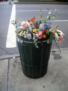 would be lovely if trash looked like this.
