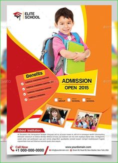 Junior School Flyer Template Print Graphic Design Pamplet Banner