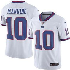 Eli Manning White Men s New York Giants Stitched NFL Limited Rush Jersey.  Nfl Jerseys For SaleFootball ... d6ed4dd7f