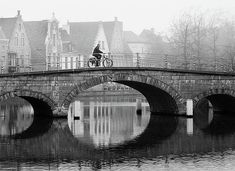 Misty Morning In Bruges Print by Barry O Carroll