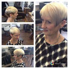 Refreshing cut and colour choices keeping it edgy by Ria  Senior Stylist