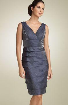 Adrianna Papell Crisscross Shutter Pleat Dress available at Petite Dresses, Blue Dresses, Dresses For Work, Formal Dresses, Tiered Dress, Adrianna Papell, Nordstrom Dresses, Criss Cross, V Neck