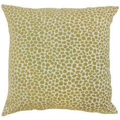 The Pillow Collection Wihe Animal Print Bedding Sham Color: Lichen, Size: King