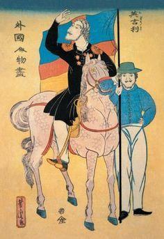 English Officer on Horseback 20x30 poster