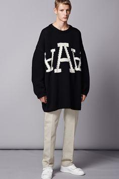 Acne Studios   Spring 2015 Menswear #sweater #alphabet #print