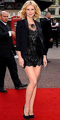 Who made Gwyneth Paltrow's black lace dress?